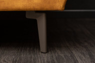 Elegante 3-zits bank MARVELOUS 220 cm antiek roestbruin fluweel 3-zits bank inclusief kussens