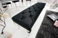 Elegante bank MODERN BAROK 172 cm zwart fluweel roestvrij staal