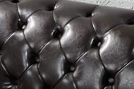 Elegante Chesterfield 2-zits bank Coffee bruine knoop stiksels