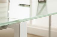 Exclusief design hoekbureau 180 cm mat wit glas