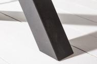 Industriële eettafel 140cm donker eiken look met zwarte X-poten