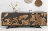 massief dressoir 175 cm met bloemmotief van mangohout