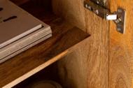 Massief dressoir SCORPION 177 cm bruin mangohout, gedetailleerd 3D-houtsnijwerk