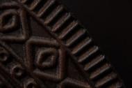 Massief highboard DALA 100cm mangohout zwart gouden poten