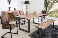 Massieve Acacia eiken-houten tafel Genesis 160cm Industrial look