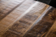 Massieve eettafel IRON CRAFT 120 cm rond naturel mangohout