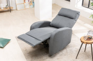 Moderne relaxfauteuil HOLLYWOOD II grijze tv-fauteuil met ligfunctie