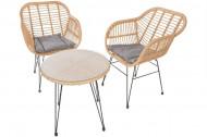 Balkon en Terras Meubelen set van 3 incl zitkussens