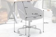 Bureaustoel donkergrijs fluweel met armleuningen draaistoel en In hoogte verstelbare