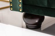 Chesterfield 3-zitsbank 205 cm fluweelgroen fluweel met knoopsluiting en veerkern