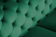 Chesterfield bank MODERN BAROK 240 cm fluweel smaragdgroen 3-zits