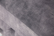 Chesterfield fluwelen Poef 92cm donkergrijze