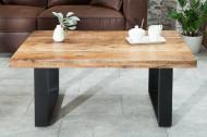 Design salontafel IRON 100cm mangohout ijzer industrieel design