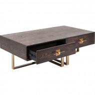 Design salontafel messinglook 135cm