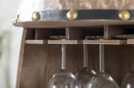 Elegant wijnrek BODEGA 97cm massiefhout wijnvat Shabby Chic