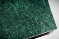 Elegante salontafel ELEMENTS 50cm groen met een gepolijst marmeren blad