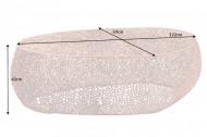 Filigraan design salontafel LEAF 122cm koper handwerk