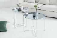 Filigraan salontafel MARRAKESCH 56 cm zilveren dienbladtafel Afneembaar tafelblad