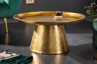 Handgemaakte salontafel ORIENT 63 cm goud gehamerd design