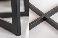 Industriële bijzettafel 50 cm eiken geolied zwart frame