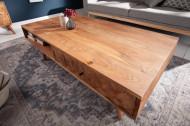 Massief acacia hout salontafel 117 cm 3D-oppervlak