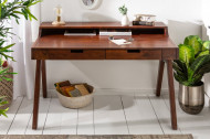 Massief bureau MONSOON 100 cm acacia bureau met een opvallende afwerking