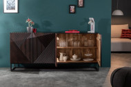 Massief dressoir CREATIVO 177 cm mangohout complex front in retro-design