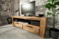 Massief tv-bord IRON CRAFT mangohout lowboard 130 cm 2 lades