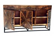 Massiev mangohout industriele stijl dressoir WOOD ART 160 cm