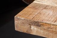 Massieve eettafel IRON CRAFT 120 cm mangohout ijzer industrieel design