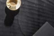 Massieve salontafel SCORPION 110 cm zwart mangohout met 3D-houtsnijwerk