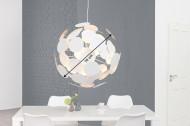 Moderne design hanglamp INFINITY HOME 70cm wit zilveren hanglamp