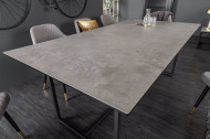 Moderne eettafel SYMBIOSE 200cm keramiek in betonlook 200cm