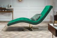 Moderne Relax stoel 165 cm smaragdgroen