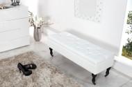 Noble BOUTIQUE Design bankje 110 cm (wit) met opbergruimte