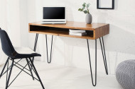 Retro bureau SCORPION 110 cm Sheesham hout steen finish Haarspeldpoten palissander