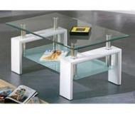 Salontafel Glas Hoogglans Wit Model Budget 100cm