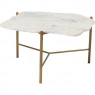 Salontafel Piedra Marmer wit 76 x 72 cm