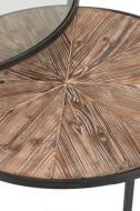 Salontafels Rond Metaal Zwart Set Van 2