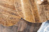 Set van 2 industriële bijzettafels ELEMENTS 57 cm massief mangohout