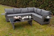 Tuin lounge hoekbank set inclusief zitkussens