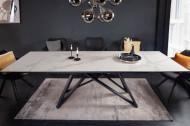 Uitschuifbare eettafel ATLAS 180-220-260 cm keramiek blad in marmerlook Grijs/Wit