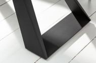 Uitschuifbare eettafel CONCORD 180-230 cm antraciet gemaakt van keramiek