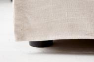 Bank model: Heaven - 3zits - naturel linnen Afneembare Hoes
