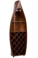 Barkast in uitvoering Boot Hout Bruin met hoogte van 140cm