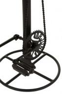 Barstoel Fiets ijzer/Leder Zwart/Bruin