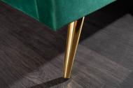 Bed RetroDesign Smaragdgroen Stof Fluweel 160x200cm Goudenpoten