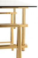 Bureau Verstelbaar Roestvrij Staal/Glas Goud/Transparant 150cm