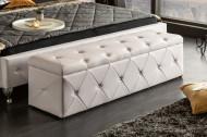 chesterfield design bank met opbergruimte EXTRAVAGANCIA 140 cm wit