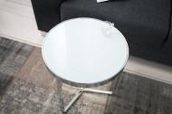 Design bijzettafel Original ASTRO 45cm chroom wit salontafel